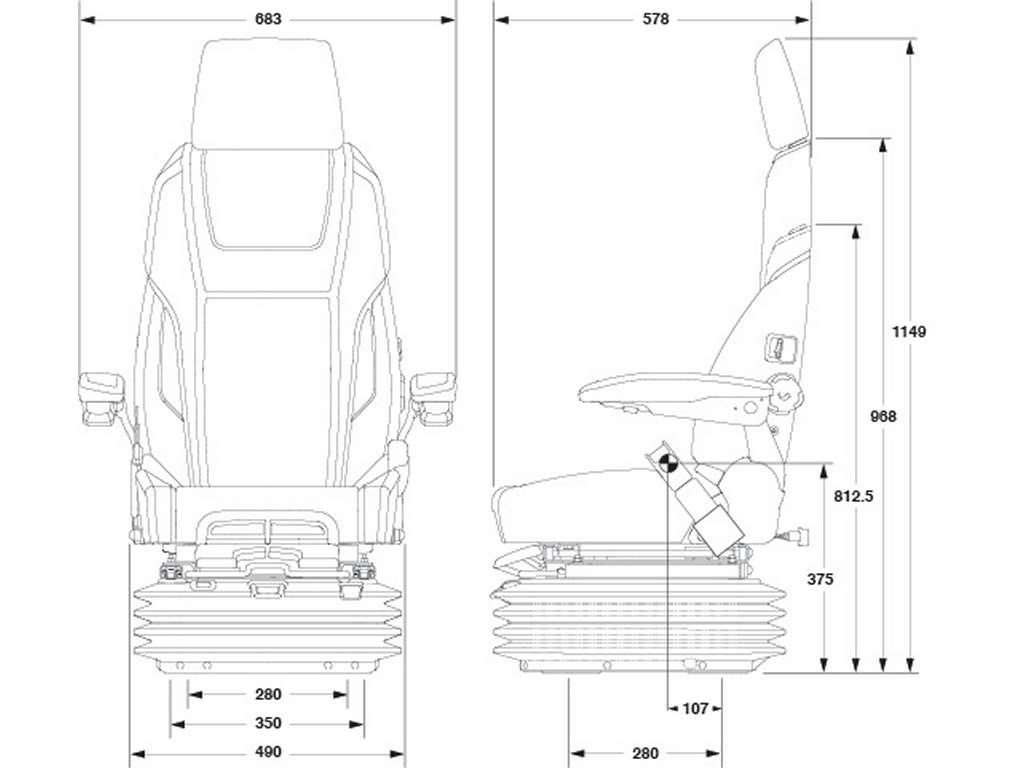 Kab 61 K4 Sea Extreme Suspension Marine Seat