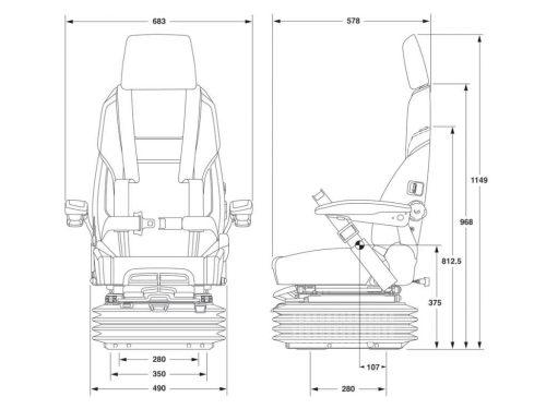 marine boat suspension seats kab grammer isri united all types