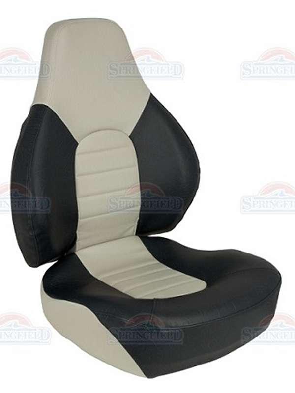 Boat seat Helm Captain Fishing chair Folding Springfield 1041602 BLACK