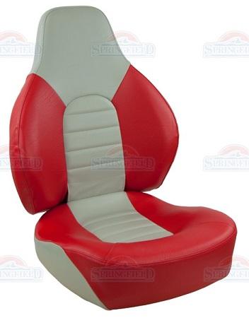 Folding boat seat FISH PRO RED/GREY