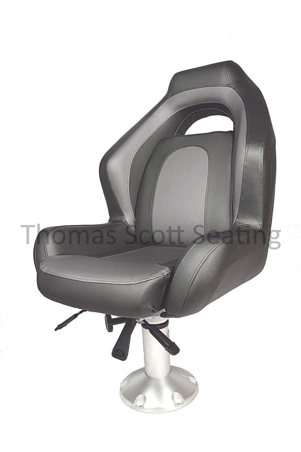 Boat seat Helm Captain Fishing chair Folding Springfield 1041608 GREY